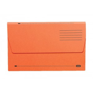 Elba Document Wallet Half Flap 285gsm Capacity 32mm Foolscap Orange Ref 100090241 [Pack 50]