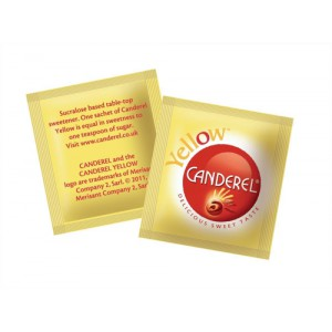 Canderel Yellow Artificial Sweetener Low Calorie Granules Sachets Code A03665 Pack 1000
