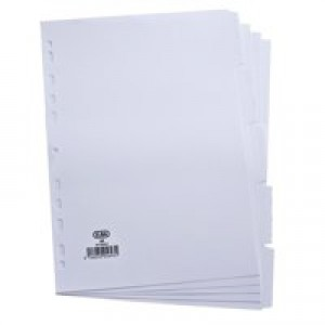 Elba Dividers Europunched 5-Part A4 White Ref 100204880