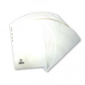 Elba Dividers 20-Part A4 Wht 400007500