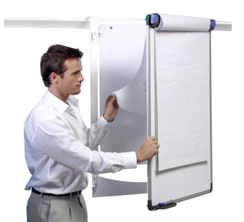 Nobo Pro-Rail Flipchart Holder for Wall Rail Hinged Design 665x970mm Ref 1901230