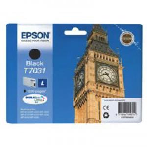 Epson Big Ben Ink Cartridge Black Ink 1.2 K C13T70314010