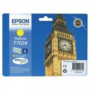 Epson Big Ben Ink Cartridge Yellow C13T70344010