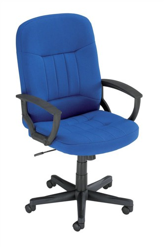 Trexus High Back Manager Armchair W520xD420xH420-520mm Backrest H620mm Blue
