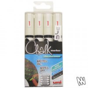 Uni Chalk Marker Medium Tip PWE-5M White Code 5046731