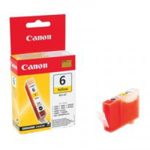 Canon BCI-6Y Inkjet Cartridge Page Life 280pp Yellow Ref 4708A002
