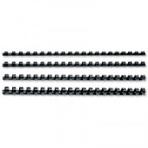 GBC Binding Combs Plastic 21 Ring 145 Sheets A4 16mm Black Ref 4028600 [Pack 100]