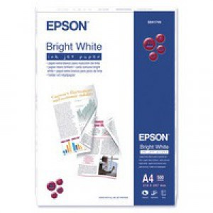 Epson A4 Bright White InkJet Paper 90gsm Pack 500 C13S041749