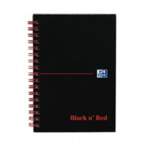 Black n Red Book Wirebound 90gsm Ruled and Perforated 140 Pages A6 Code 100080448