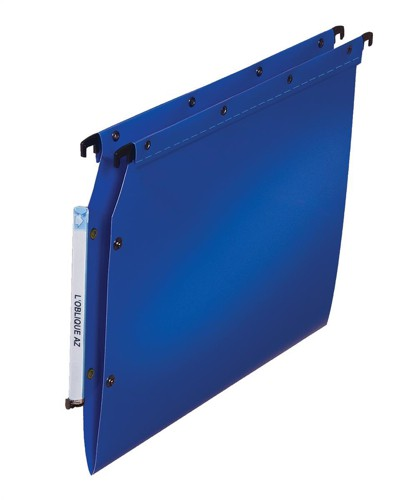 Elba Suspension File Lateral Polypropylene V-Base Foolscap Blue Ref 100330583 [Pack 25]