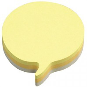 3M Post-it Speech Bubble Notes Pad 225 Sheets Yellow Grey Code 2007SP