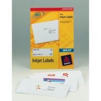 Avery Quick DRY Addressing Labels Inkjet 18 per Sheet 63.5x46.6mm White Ref J8161-100 [1800 Labels]