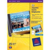 Avery CD/DVD Inkjet Case Cover and Tray Insert 151x121 and 151x118mm Photo Quality Ref J8435-25 [Pack 25]