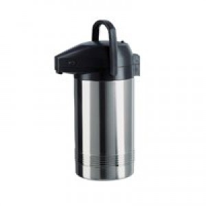Pump Pot Stainless Steel with Pouring Lock Retains Heat 8 hours 3 Litre