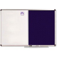 Nobo Classic Combination Board Magnetic Drywipe and Felt W1200xH900mm Blue Ref 1902258