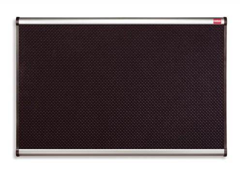 Quartet Prestige Noticeboard High-density Foam with Aluminium Finish W900xH600mm Black Ref QB343A
