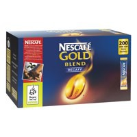 Nescafe Gold Blend Instant Coffee Granules Decaffeinated Stick Sachets Pack 200 Code A00501