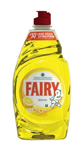 Fairy Liquid for Washing-up Lemon 433ml Pack 2 Code 96775