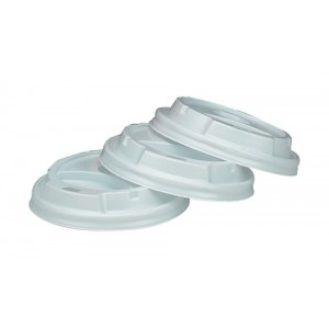 Benders Vented Lids for 8oz 230ml Vending Cups Ref B01306 [Pack 100]