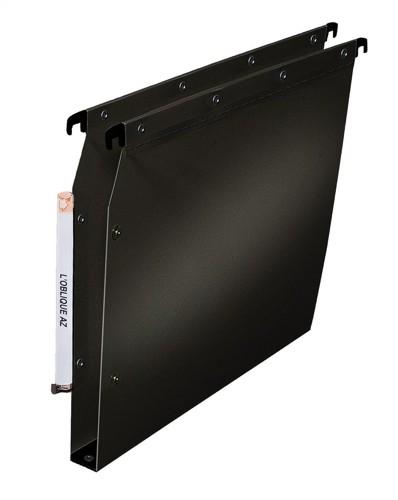 Elba Suspension File Lateral Polypropylene 30mm Base Foolscap Black Ref 100330616 [Pack 25]