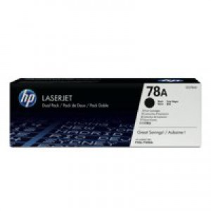 HP No.78A Toner Cartridge Black Twin Pack Code CE278AD