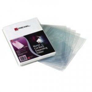 Rexel Nyrex Folder Cut Back Expanding Gusset 25mm Ref 2001015 [Pack 10]