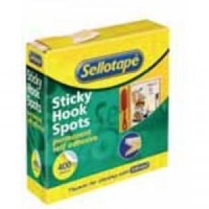 Sellotape Sticky Hook Spots 400 Spots Diameter 22mm Code 503943