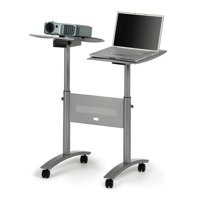 Image for Nobo Multimedia Projector Trolley for 10kg Load per Twin Platform W860xD600xH1200mm Ref 1900791
