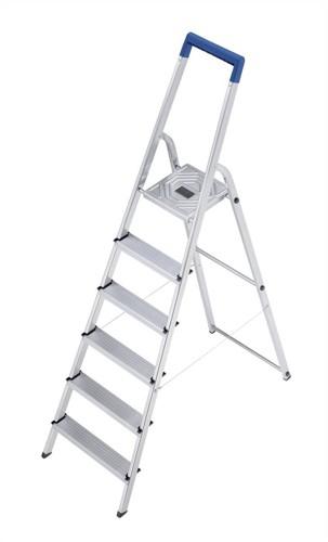 Folding Aluminium Ladder 6 Non Slip Ribbed Steps 5.5kg