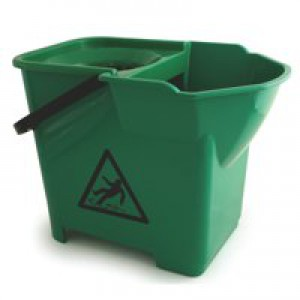 Bentley Colour Coded Mop Bucket Heavy Duty 16 Litre Capacity Green Code SPCMB16G