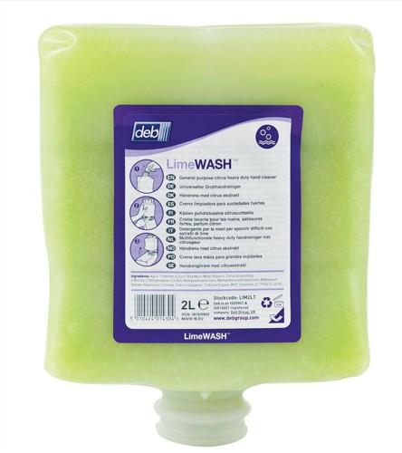 DEB Limewash Hand Soap Refill Cartridge 2 Litre Code LIM2LTR