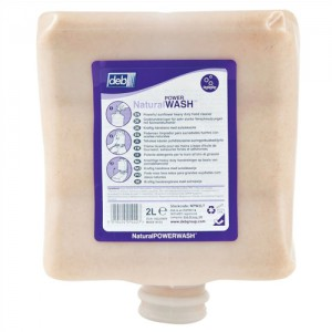 DEB Natural Power Wash Hand Soap Refill Cartridge 2 Litre Ref NPW2LTR