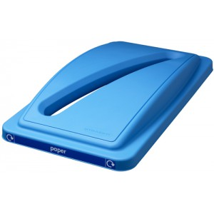 EcoSort Recycling System Waste Lid for Paper Slot Opening Blue Code SPICEECOPAPLID1