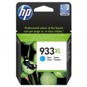 Hewlett Packard [HP] No.933XL Inkjet Cartridge Page Life 825pp Cyan Ref CN054AE