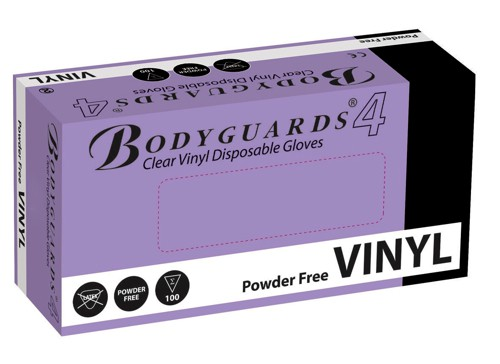 Polyco Bodyguards4 Clear Vinyl Powder Free Disposable Gloves Medium Code GL6222 Pack 100