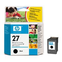 HP No.27 Inkjet Cartridge 10ml Black Code C8727AE