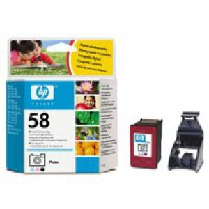 Hewlett Packard [HP] No. 58 Inkjet Cartridge Page Life 125 Photos/390pp 17ml Photo Colour Ref C6658AE