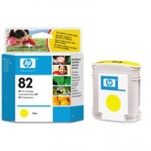 HP No.82 Inkjet Cartridge 69ml Yellow Code C4913AE