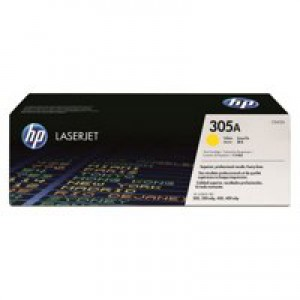 Hewlett Packard [HP] No. 305A Laser Toner Cartridge Page Life 2600pp Yellow Ref CE412A