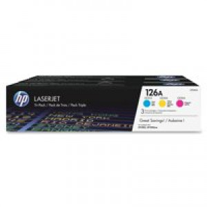 HP No.126A Laser Toner Cartridge Cyan/Magenta/Yellow Code CF341A