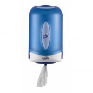 Reflex Mini Wiper Dispenser Centrefeed Plastic W182xD210xH297mm Smoked Blue Ref E022392