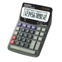 Aurora Calculator Desktop Battery/Solar-power 12 Digit 2x3 Key Memory 140x198x46mm Ref DT85V