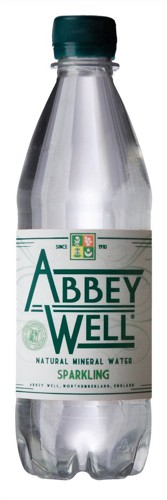 AbbeyWell 500ml Natural Mineral Water Sparkling Plastic Bottle