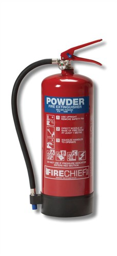 IVG Firechief Fire Extinguisher Refillable Dry Powder for Class A and B and C 6kg Ref IVGS6.0KG