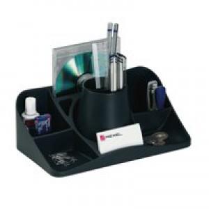 Rexel Agenda2 Desk Tidy 286x153x92mm Charcoa Code 2101028