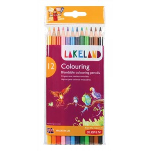 Lakeland Colouring Pencils Round-barrelled Soft Blendable Assorted Ref 33356 [Pack 12]