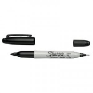 Sharpie Twin Tip Permanent Marker Alcohol-based 1.5mm and 0.4mm Line Black Code S0811100