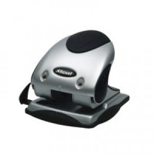 Rexel P240 2 Hole Punch Silver/Black Code 2100748