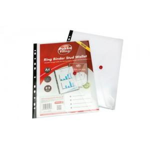 S/pake Polyfile RBndr Wlt Clr A4 12566
