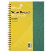 Silvine Notebook Twinwire Sidebound Hardcover Perforated Ruled 192 Pages 75gsm A4 Ref SPA4